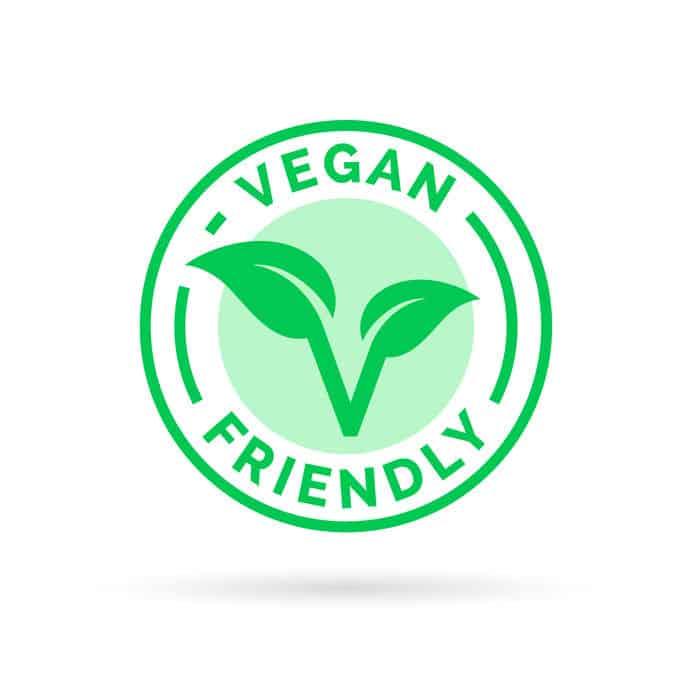 Imagem mostra logo vegana.