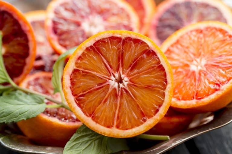 Imagem de laranjas servidas em prato.