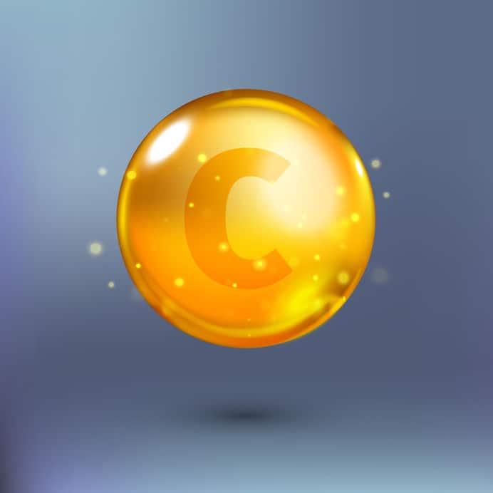 Imagem de logo da vitamina C.