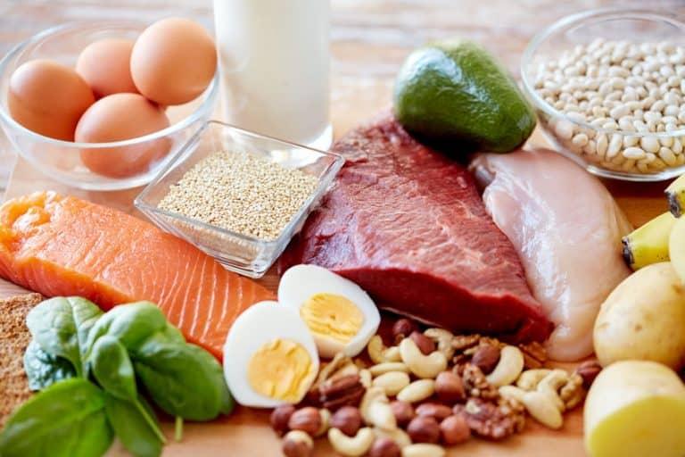 Imagem de alimentos ricos em Vitamina B.