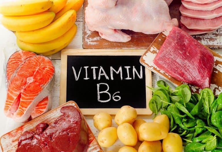 Imagem de alimentos que possuem vitamina B6.