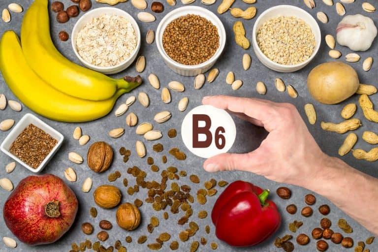 Imagem de frutas com vitamina B6.