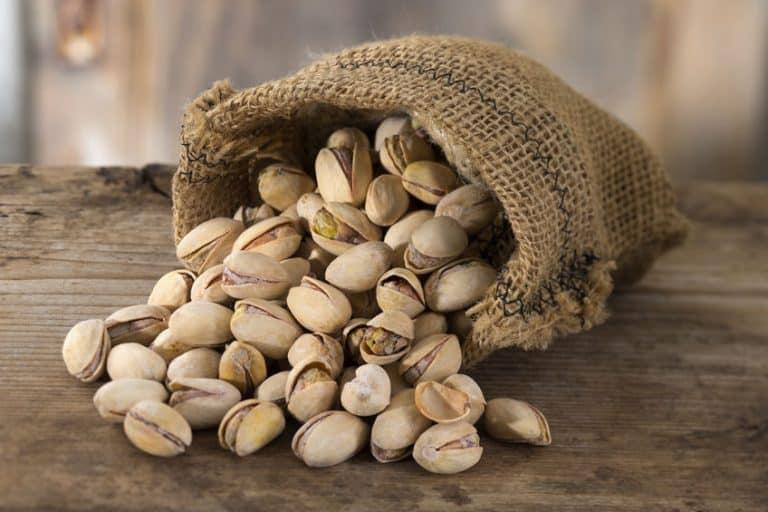 Imagem mostra saco de pistache.