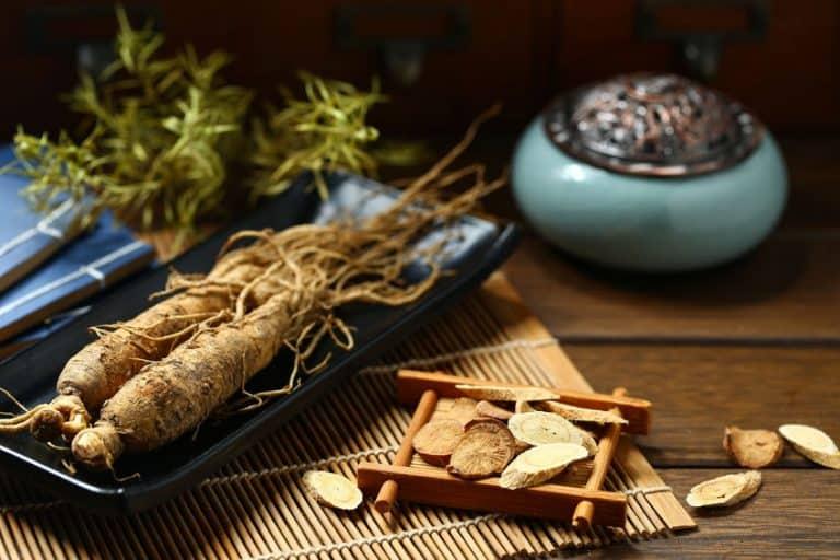 Ginseng em formato de planta.