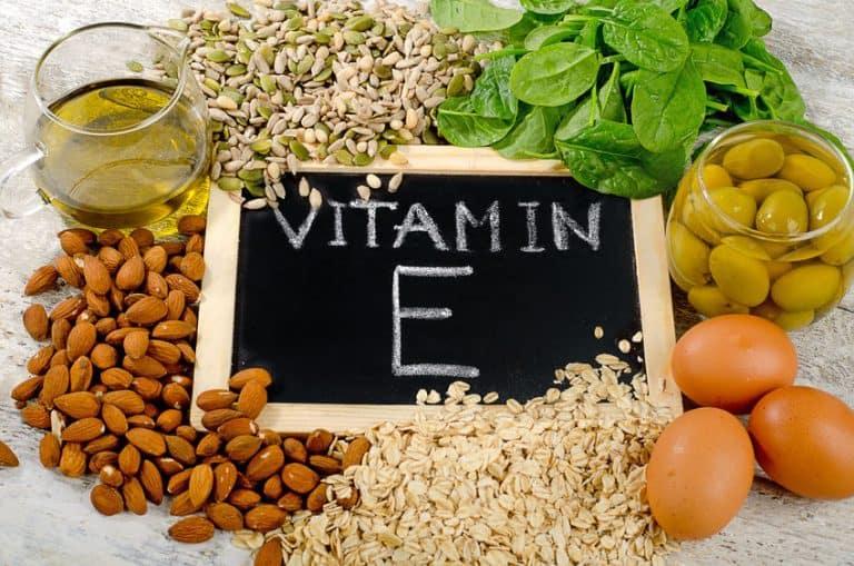 Alimentos com vitamina E.