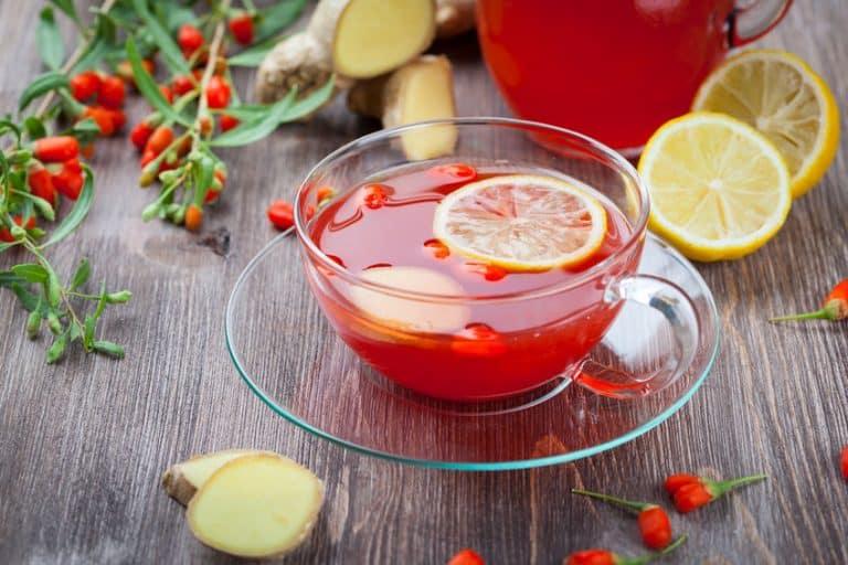 Chá de goji berry.