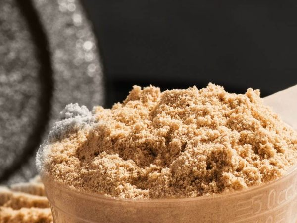 Imagem de pó de whey protein.