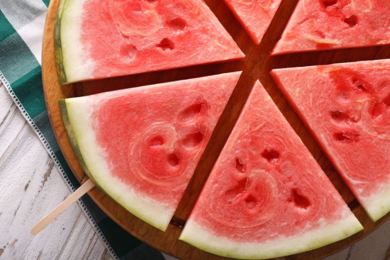 watermelon in round plate