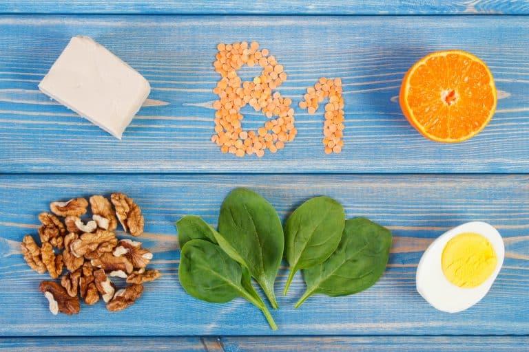 comida cheia de vitamina b1