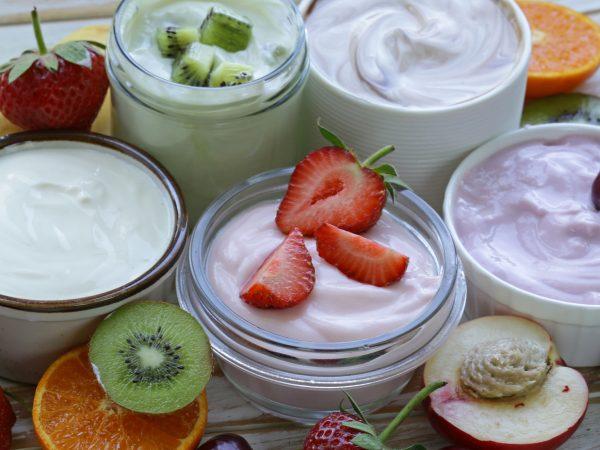 iogurte de sabores diferentes