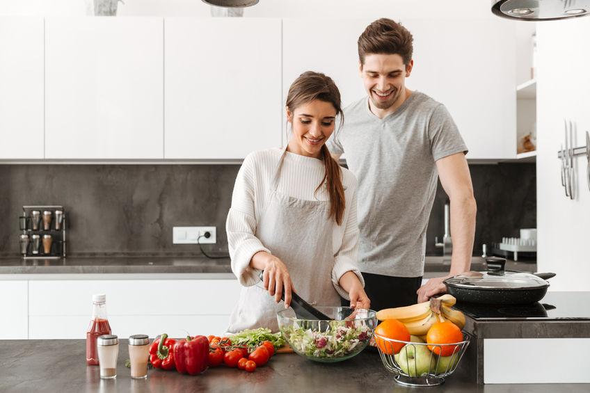 casal de cozinha