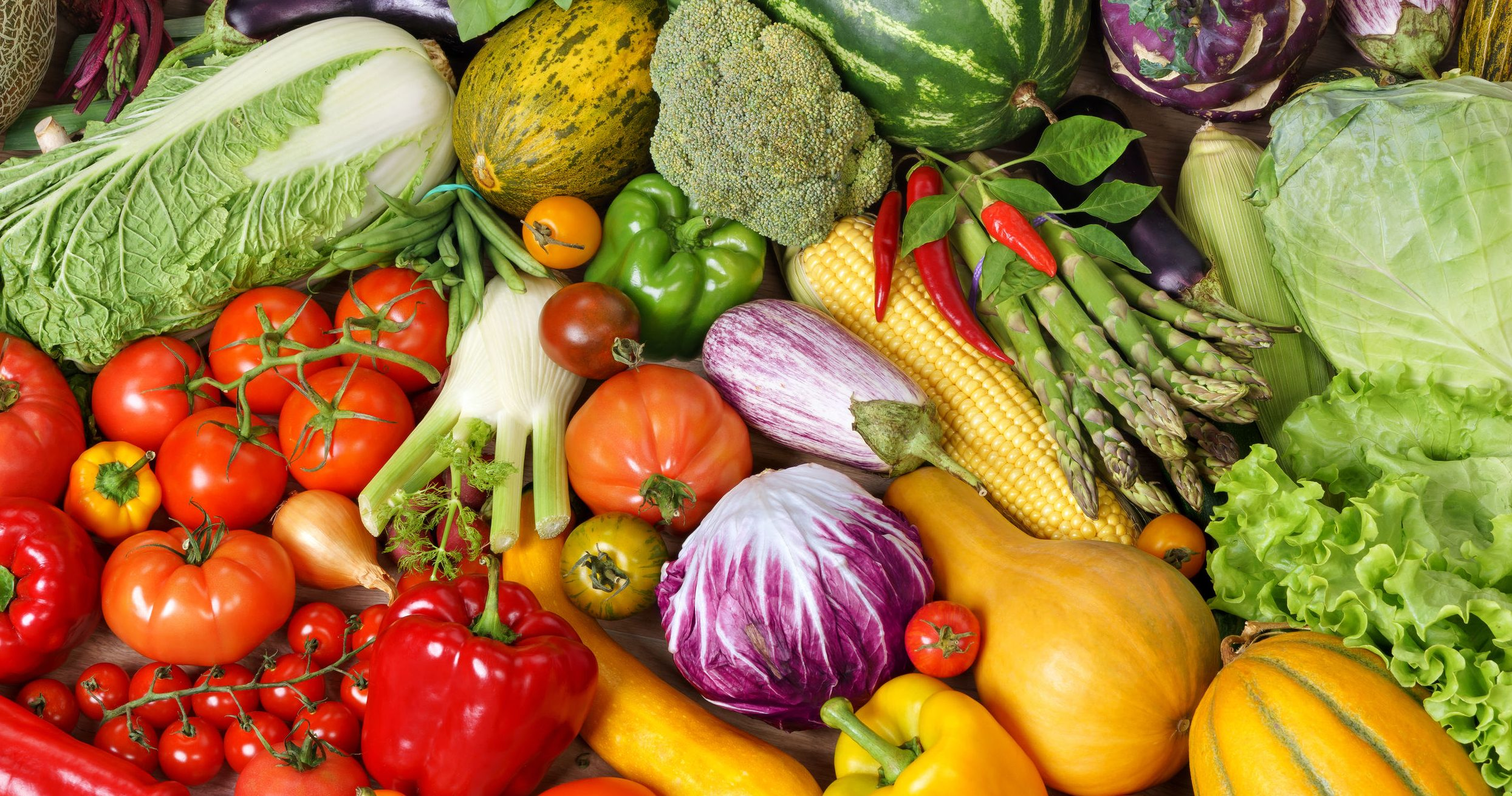 frutas e vegetais para uma dieta saudável