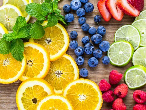 frutas ricas em vitaminas c