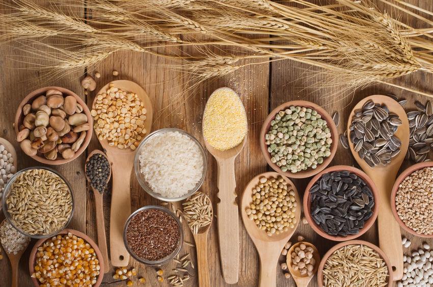 grãos ricos em minerais