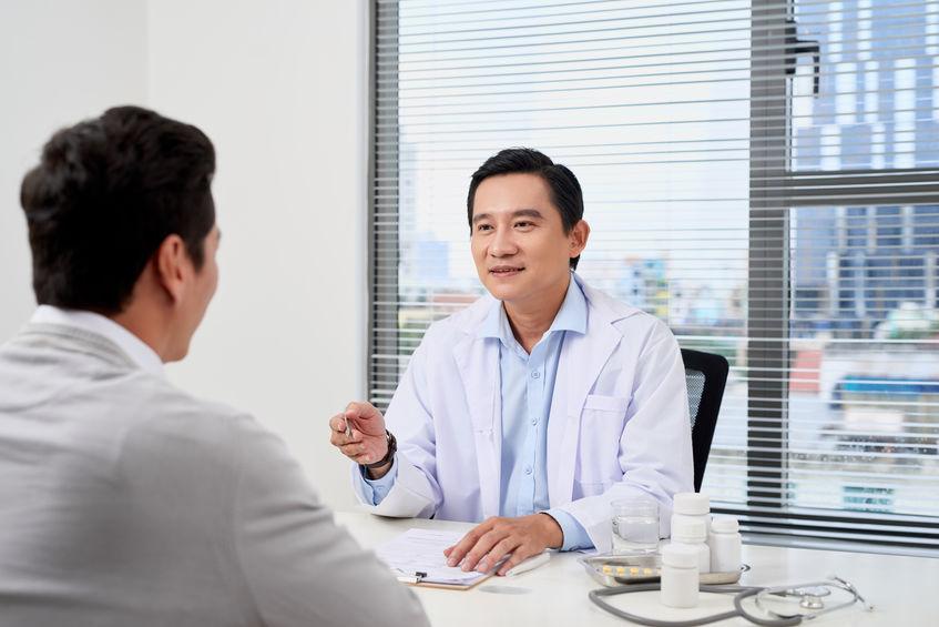 pessoa em consulta médica