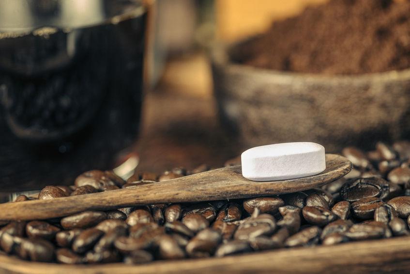 cafeína em cápsula