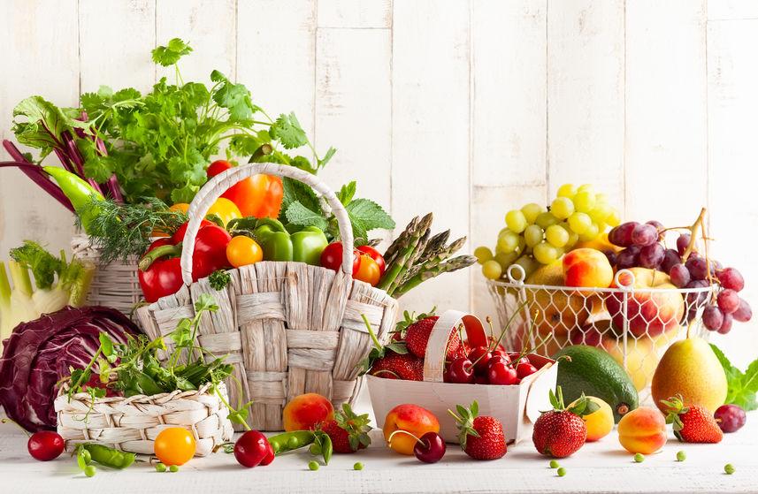 cesta de vegetais