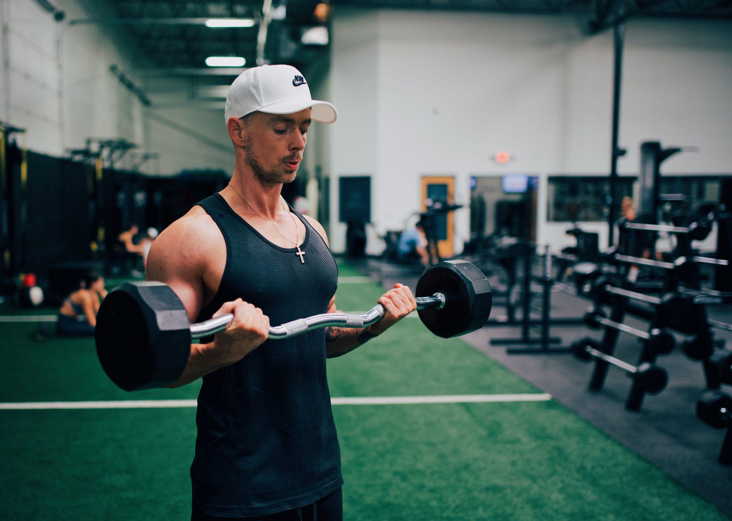 Imagem de um homem se exercitando