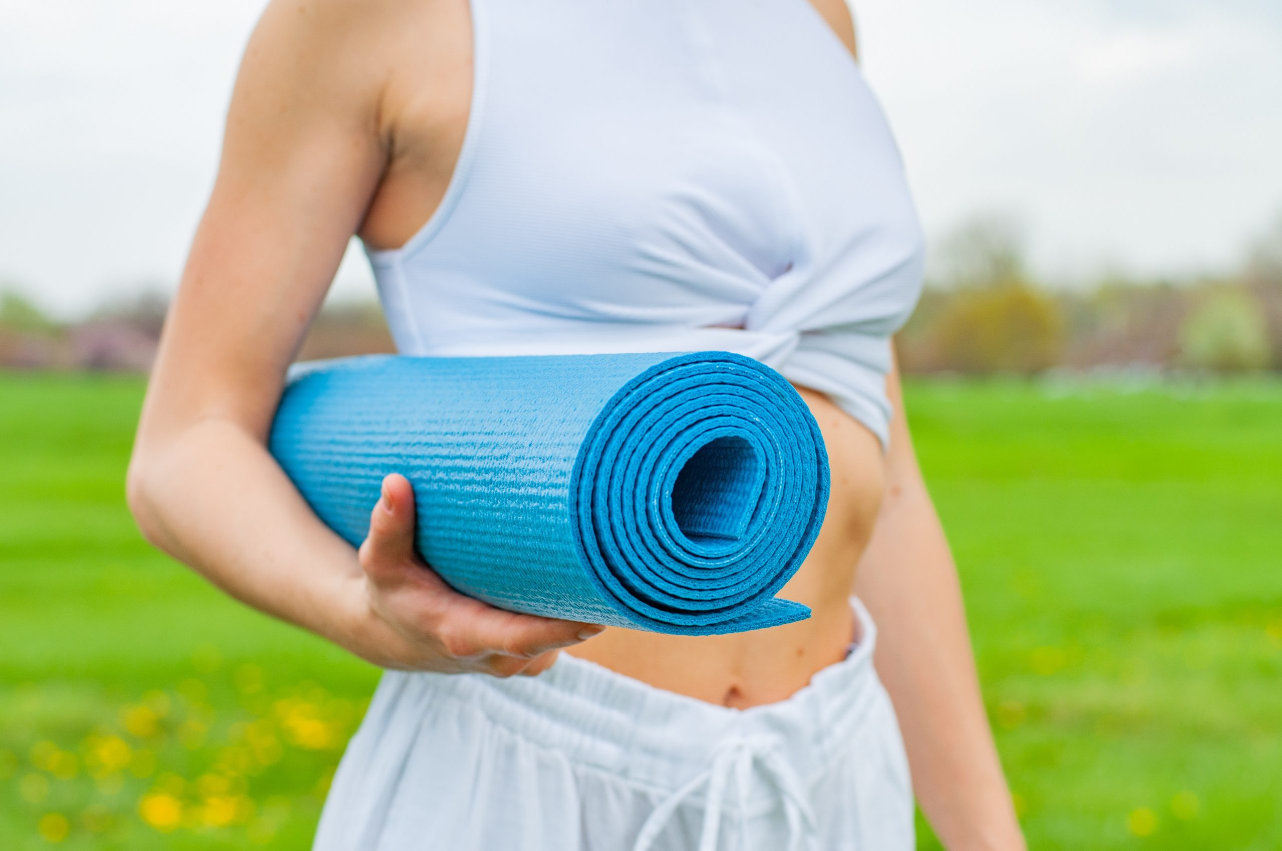 Imagem de um tapete de yoga.
