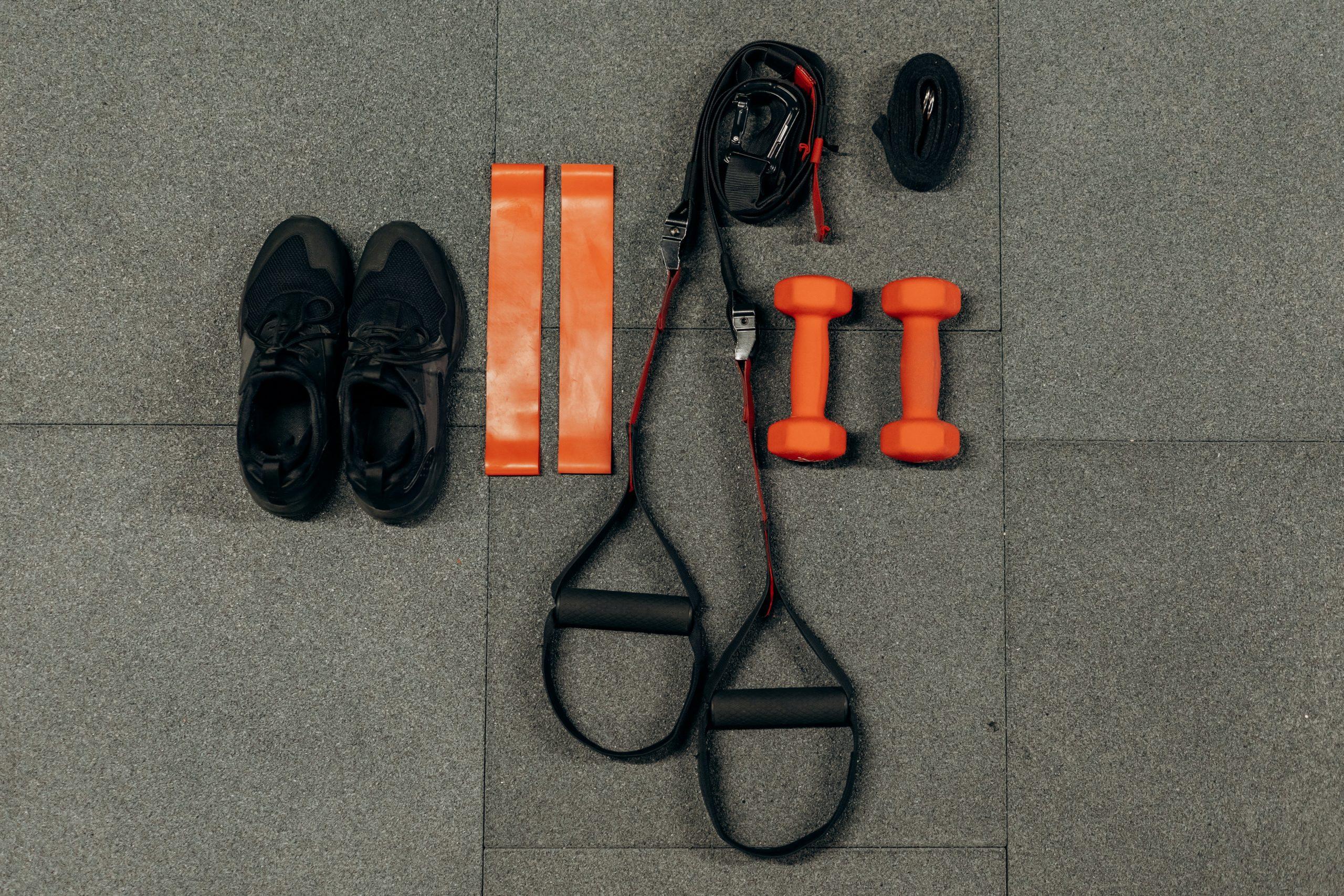 Imagem de equipamentos esportivos.