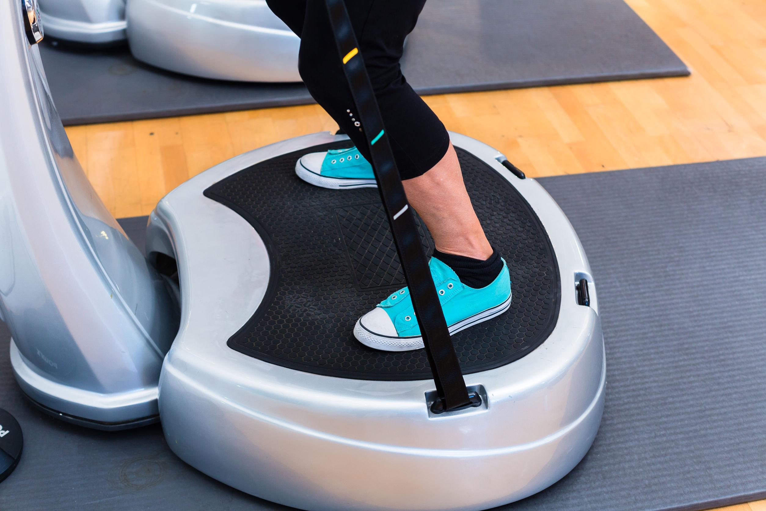 Imagem de uma plataforma vibratória.