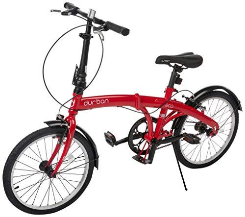Bicicleta Eco Dobravel, Aro 20, 1 velocidade, Durban, Vermelha
