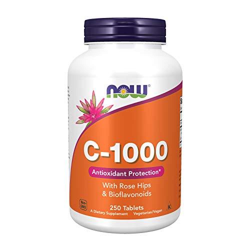 Vitamina C 1000 C/Rose Hips e Bioflavonóides (250 TABS) Now Foods
