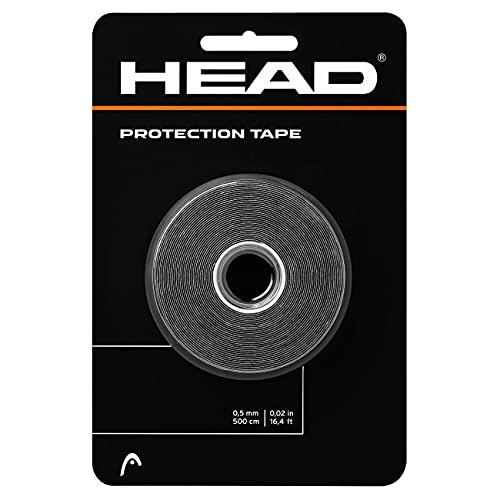 HEAD Fita de proteção para raquete – Protetor de cabeça para raquete de tênis – Rolo de 40 cm, preto