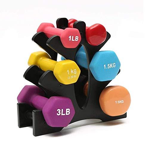 XINGKE Rack para halteres de aço metálico de 3 camadas, suporte para armazenamento de halteres para exercícios em casa