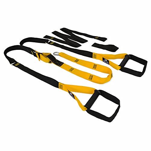 Fita de Suspensão Muvin - Faixa de Resistência - Fita de Treinamento Suspenso - Elástico para Exercícios - Tamanho Ajustável e Fácil de Ancorar - Treinamento Funcional - Peso do Corpo