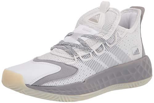 adidas unisex adult Coll3ctiv3 2020 Low Basketball Shoe, White/Purple/Chalk White, 5.5 US