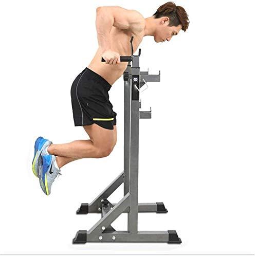 PLAYH Suporte para halteres e barra com suporte para agachamento multifuncional para uso em casa, academia, treinamento de força, capacidade de carga de 300 kg