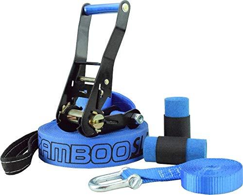 Slackline Zamboo Pro Black 30 Metros - Azul