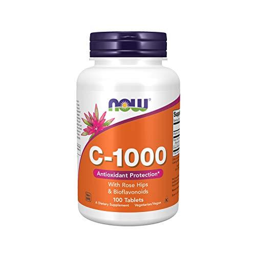 Vitamina C 1000 C/Rose Hips e Bioflavonóides (100 TABS) Now Foods