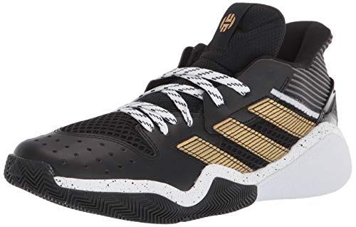 adidas Harden Stepback Indoor Court Shoe, Core Black/Gold Metallic, 15