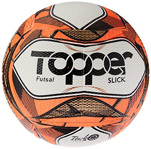 Bola Topper Slick II Futsal Vermelha Neon, Único