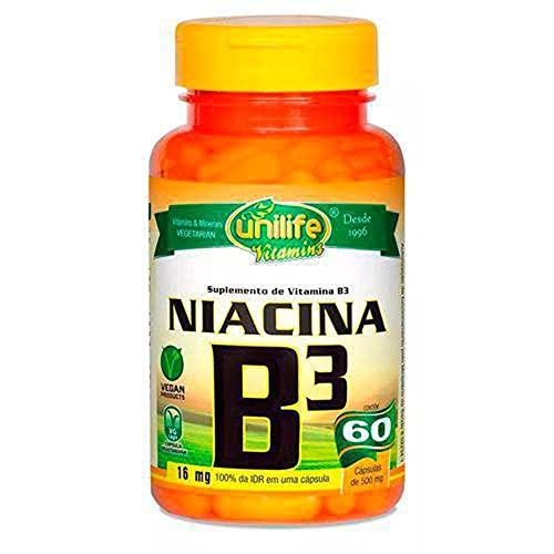 Vitamina B3 Niacina 60 Cápsulas Unilife