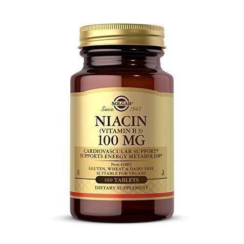 Solgar - Niacina (Vitamina B3) 100 mg - 100 comprimidos