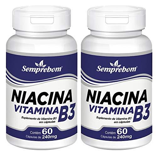 Niacina Vitamina B3 – Semprebom – 120 Cap. de 240 mg.