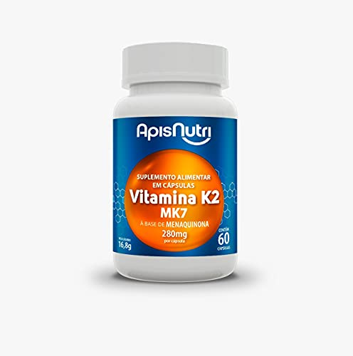 Apisnutri Suplemento de Vitamina K2, 60 Capsulas