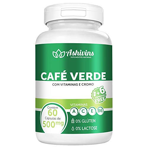 Café Verde - Ashivins - 60 caps - 500 mg