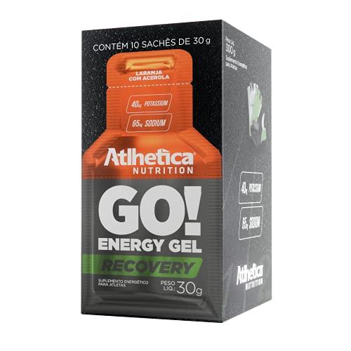 Go Energy Gel (10 Sachês) - Sabor Laranja C/ Acerola, Atlhetica Nutrition