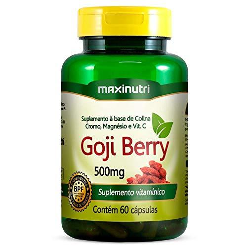 Goji Berry + Colina, Cromo, Magnésio e Vit. C 500mg - 60 Cáps, Maxinutri
