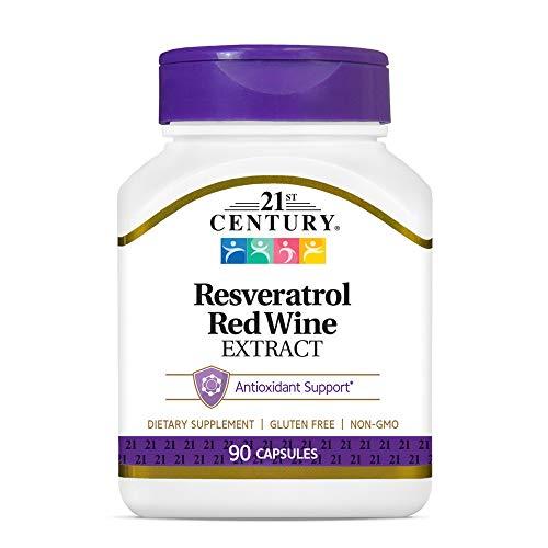 Resveratrol Extrato de Vinho Tinto 90 capsulas - 21st Century