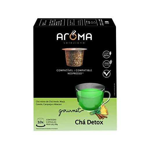 Cápsulas de Chá Detox Aroma, Compatível com Nespresso, Contém 10 Cápsulas