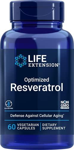 Life Extension - Resveratrol otimizado - 60 Cápsulas vegetarianas