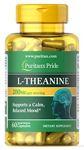 L Theanine 200 mg 60 caps. Puritans Pride