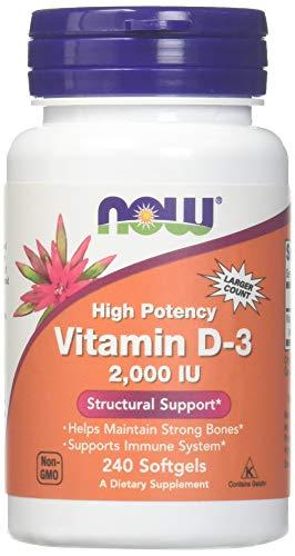 Vitamina D-3 2000iu 240 Cápsulas Now foods