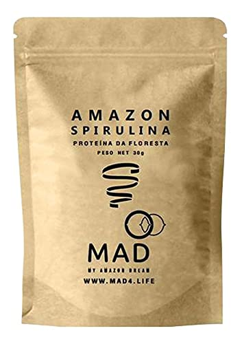 Spirulina Em Flocos Premium Amazônica 30g Mad