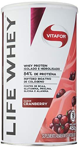 Life Whey Protein Isolado e Hidrolisado - 450g Cranberry, Vitafor